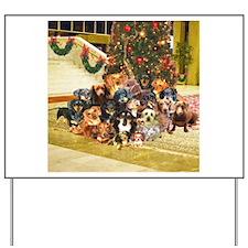 A Dachshund Family Christmas Yard Sign