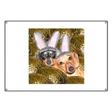 Easter Bunny Ears Dogs Banner