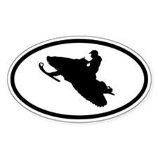 SNOWMOBILE Jumper Oval Decal