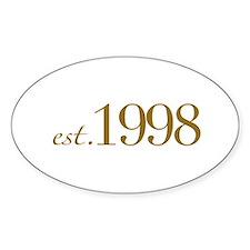 Est. 1998 (10th Birthday) Oval Decal