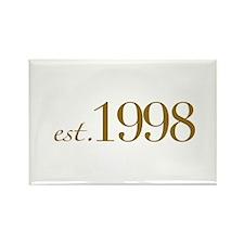 Est. 1998 (10th Birthday) Rectangle Magnet