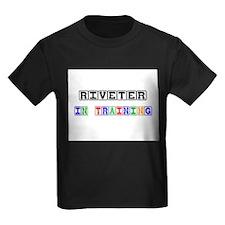 Riveter In Training Kids Dark T-Shirt