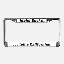 Idaho Sucks - License Plate Frame