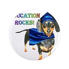 "Education Rocks 2 3.5"" Button"