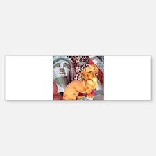 4th of July Dachshund Dog Bumper Bumper Bumper Sticker