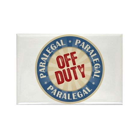 Off Duty Paralegal Rectangle Magnet