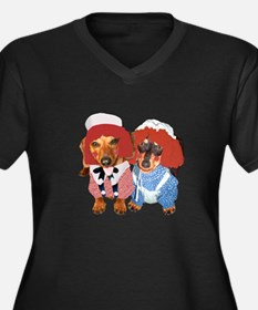 Raggedy Ann & Andy Doxies Women's Plus Size V-Neck