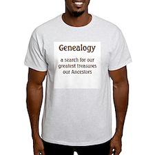 Genealogy Treasures Ash Grey T-Shirt