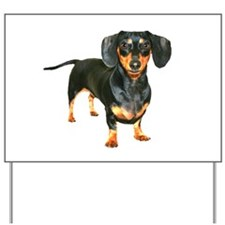 Lily Dachshund Dogs Here Yard Sign