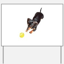 'Lily Plays Dachshund Dog' Yard Sign