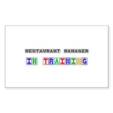 Restaurant Manager In Training Rectangle Decal