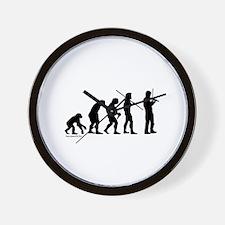 Violin Evolution Wall Clock