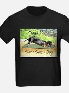 Yoga Down Dog Dachshund T