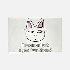 Basement Cat Rectangle Magnet