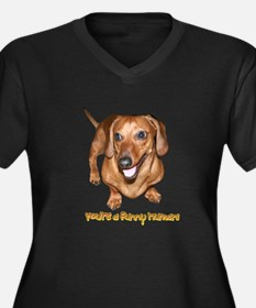 You're Funny Dachshund Dog Women's Plus Size V-Nec