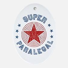 Super Paralegal Oval Ornament