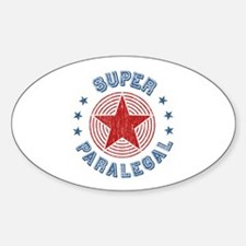 Super Paralegal Oval Decal