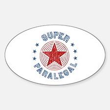 Super Paralegal Oval Sticker (50 pk)