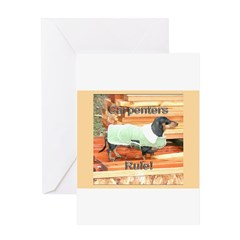 Carpenter Dachshund Dog Greeting Card