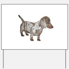 Speckled Dachshund Dog Yard Sign