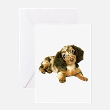 Shy_Low Puppy Greeting Card