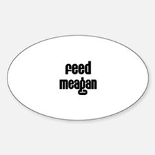 Feed Meagan Oval Decal