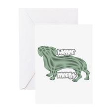 Wierner Energy Dachshund Greeting Card