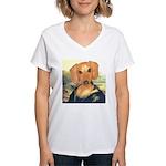 Mona Dachshund Women's V-Neck T-Shirt
