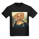 Mona Dachshund Kids Dark T-Shirt