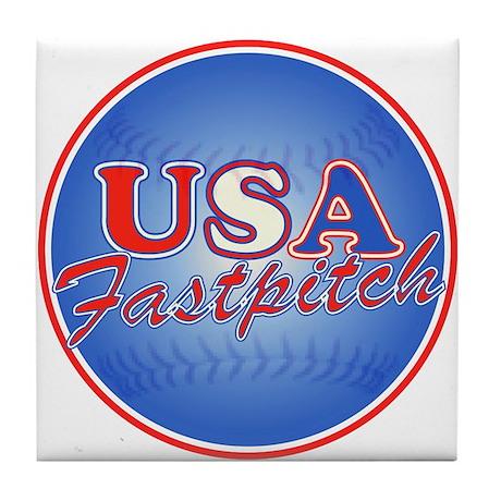 USA Fastpitch Tile Coaster