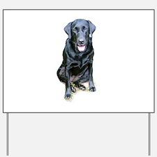 Black Lab Dog Yard Sign