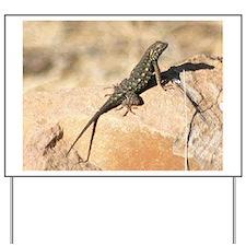 Sunning Lizard in California Yard Sign