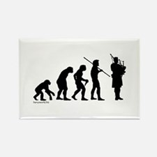 Bagpipe Evolution Rectangle Magnet (10 pack)
