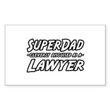 """""""SuperDad...Lawyer"""" Rectangle Decal"""