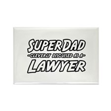 """SuperDad...Lawyer"" Rectangle Magnet"