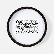 """SuperDad...Ninja"" Wall Clock"