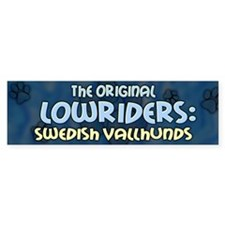 Lowrider Swedish Vallhund Bumper Bumper Sticker