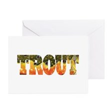 Brook TROUT Greeting Cards (Pk of 10)