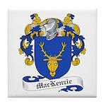 MacKenzie Family Crest Tile Coaster