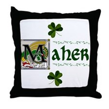 Maher Celtic Dragon Throw Pillow