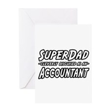 """SuperDad...Accountant"" Greeting Card"