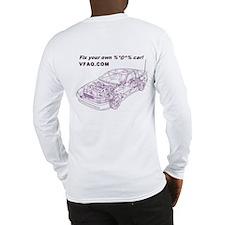 VFAQ Banner/Wireframe Long Sleeve T-shirt