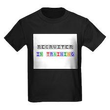 Recruiter In Training Kids Dark T-Shirt