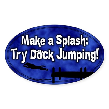 Try Dock Jumping Oval Sticker