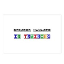 Records Manager In Training Postcards (Package of