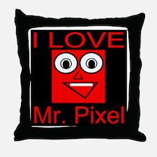 I Love Mr. Pixel Throw Pillow