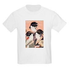 Utamaro's Three Japanese Beau Kids T-Shirt