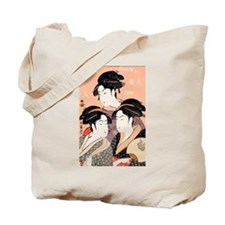 Utamaro's Three Japanese Beau Tote Bag