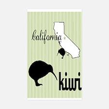 California Kiwi Rectangle Decal