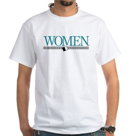 Women in Higher Education White T-Shirt